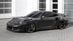 grey porsche 911 turbo tuner gives porsche 911 turbo carbon fiber body 650 hp