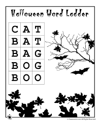 easy halloween word ladder cat to boo answer key woo jr kids