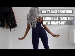 legging jumpsuit transformation legging tank top into jumpsuit 5 steps with