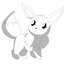 eevee evolution coloring pages