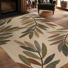 Great Area Rugs Virtuous Collection Tangled Leaves Beige Area Rug 5 3 X 7 6