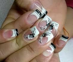 blanco y negro uñas perfectas pinterest