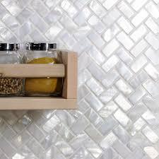 oyster white pearl herringbone tile pearl shell tiles bathroom