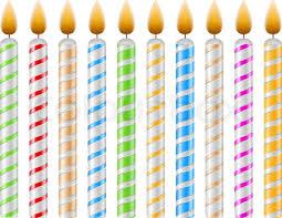 birthday candles birthday candles stock vector colourbox