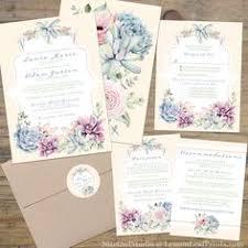 Succulent Wedding Invitations Succulent Wedding Invitation Rustic Wedding Invitations