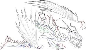 draw hookfang train dragon 2 easy steps