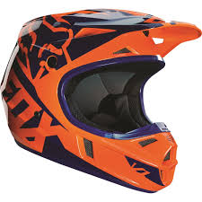 fox motocross gear canada fox racing 2016 youth v1 race helmet orange blue available at