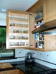 under cabinet spice rack cabinet organizers kitchen wire door mount spice rack storage spice