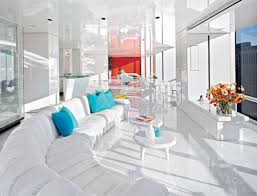 squee worthy high gloss white floors