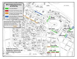 Colorado College Campus Map by Gopher Football Gamedays Parking U0026 Transportation Services