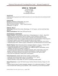 Health Education Resume Coaching Resume Samples Free Resume Example And Writing Download