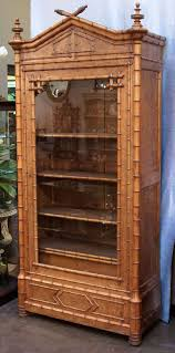 faux bamboo armoire or bookcase of curly maple at 1stdibs