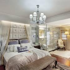 Bed On The Floor by Glamour White Chandelier Elegant Romance Interior Design Bedroom
