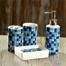 extraordinary silver mosaic bathroom accessories photos best