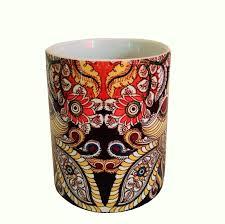 kalamkari peacock mug