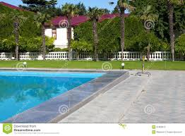 mediterranean mansion mediterranean mansion with a swimming pool stock photos image
