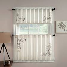 Cafe Kitchen Curtains with Coffee Curtains Walmart Bright Red Window Valance Coffee Themed