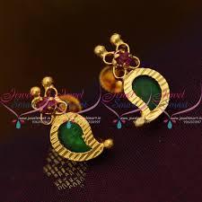 kerala earrings es9505 kerala mango design jewellery screwback palakka earrings