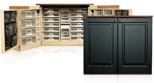 Craft Storage Cabinet Original Scrapbox Minibox Black Raised Panel Scrapbooking Craft