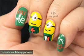vic and her nails viccopycat st patrick u0027s day minions by nail