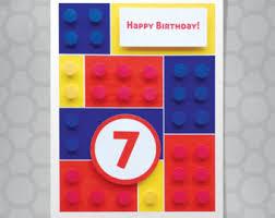 lego birthday card etsy