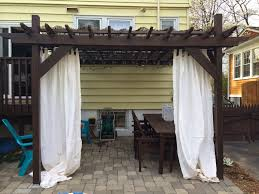 Pergola With Fabric by Unique Curtains Decoration Ideas Charming Gazebo In Patio With