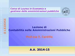 contabilità nelle amministrazioni pubbliche docsity