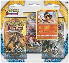 sun moon 3 pack blister with litten promo