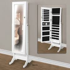 independent cabinet sales rep elegant mirrored jewelry storage cabinet white or black at 48