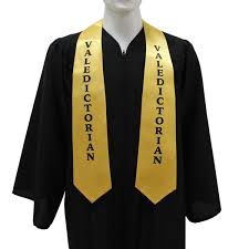 graduation scarf gold high school valedictorian stole gradshop