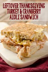 leftover thanksgiving turkey and cranberry aioli sandwich page 2