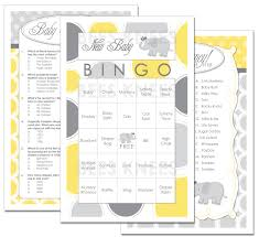 photo baby shower bingo template image