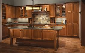 Kraft Maid Kitchen Cabinets Cherry Kitchen In Sunset Featuring Vista Mullion Glass Doors