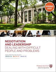 Colors Of Spring 2017 Negotiation And Leadership Spring 2017 Brochure Pon Program On
