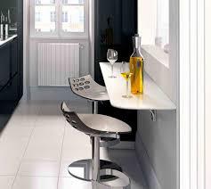 but cuisine table salon bois et blanc avec deco cuisine équipée meilleur de