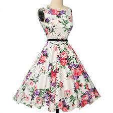belle poque womens summer dress 2017 floral retro vintage 50s 60s