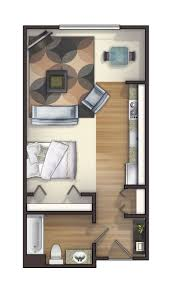 500 Sq Ft Studio Floor Plans by 287 Best Small Space Floor Plans Images On Pinterest Small
