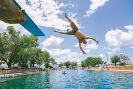 dive in balmorhea state park texas highways