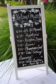 Chalkboard Wedding Program 07 November 2013 Party Favor Source