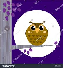 cute halloween owl on tree branch stock vector 83366812 shutterstock