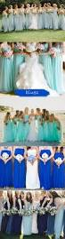 shades of blues 2015 trending bridesmaid dresses