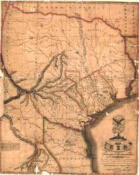 Mexico Map 1821 by Austin Stephen Fuller The Handbook Of Texas Online Texas State