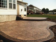 Backyard Stamped Concrete Patio Ideas Cement Sidewalk Ideas Enhance The Beauty And Value Of Your Home