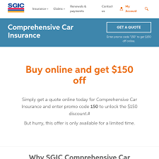 quote comprehensive car insurance 150 off comprehensive car insurance from sgic sa ozbargain