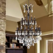 versailles chandelier versailles 18 light flemish brass finish and clear crystal chandelier
