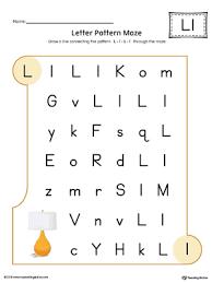 say and trace letter l beginning sound words worksheet color