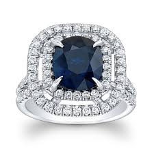 blue and white engagement rings 14k white gold princess kate blue sapphire engagement ring