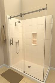 Az Shower Doors Series With 90 Panel System Features One Sliding Door