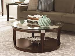 modern round coffee table glass look modern round coffee