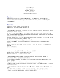 inspiration resume objective examples for legal assistant about